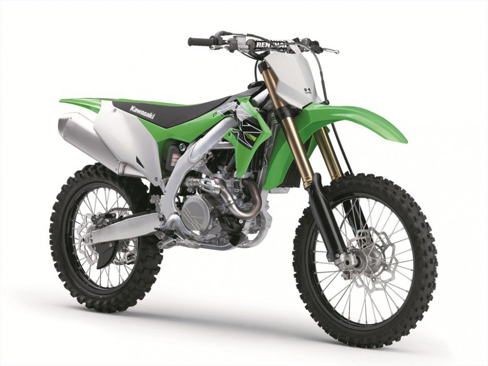 New bodywork makes the 2019 Kawasaki KX450F slimmer.