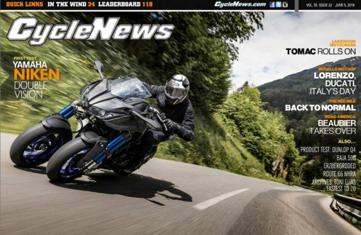 Cycle News Magazine #22: Yamaha Niken Test, Mugello MotoGP...