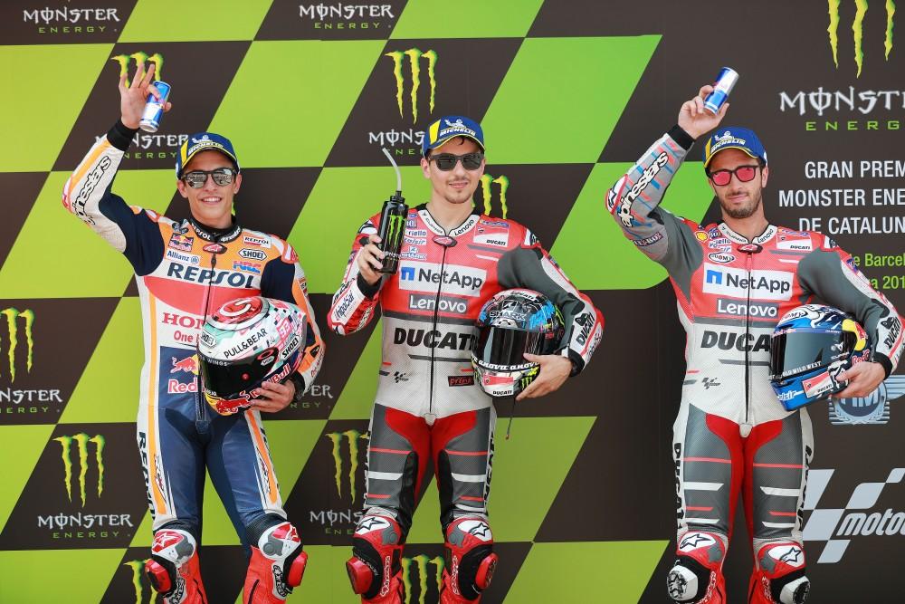 2018 Catalunya MotoGP front row