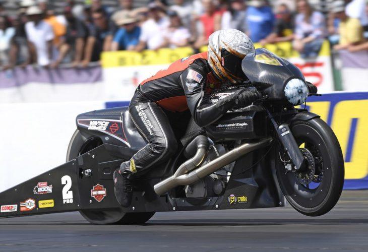 Andrew Hines Screamin Eagle Harley-Davidson Virginia NHRA Pro Stock Motorcycle