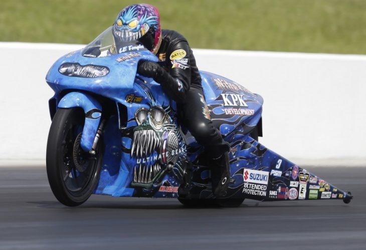 LE Tonglet Virginia NHRA Pro Stock Motorcycle winner