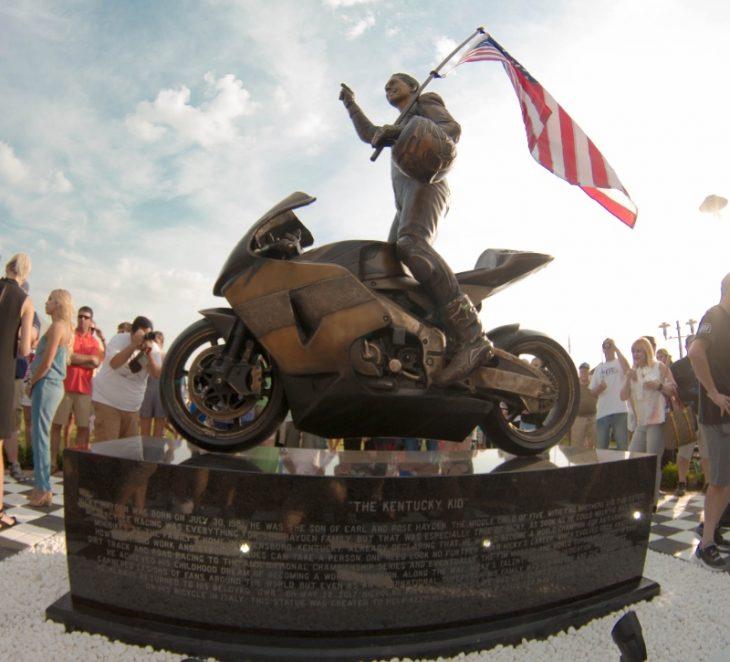 Nicky Hayden Statue in Owensboro