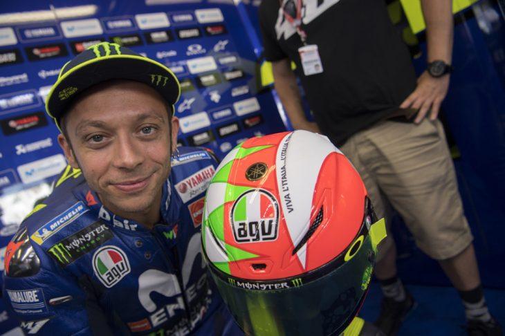 Valentino Rossi's Mugello Tricolore AGV Helmet