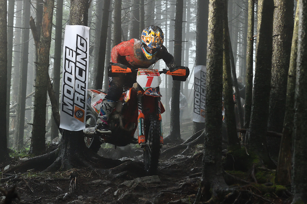 Kailub Russell won the Snowshoe GNCC