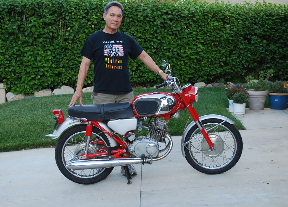 Finally, Frans has his red CB160.