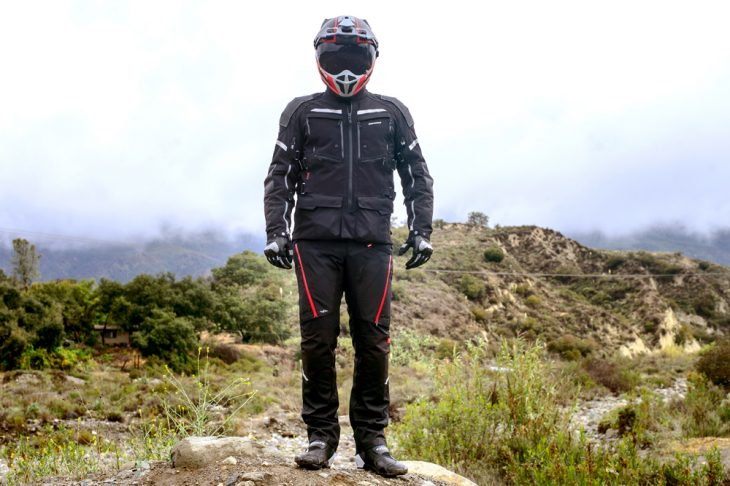The Spidi adventure suit is ideally suited to cool climates, but isn't overly hot in warmer conditions, either.
