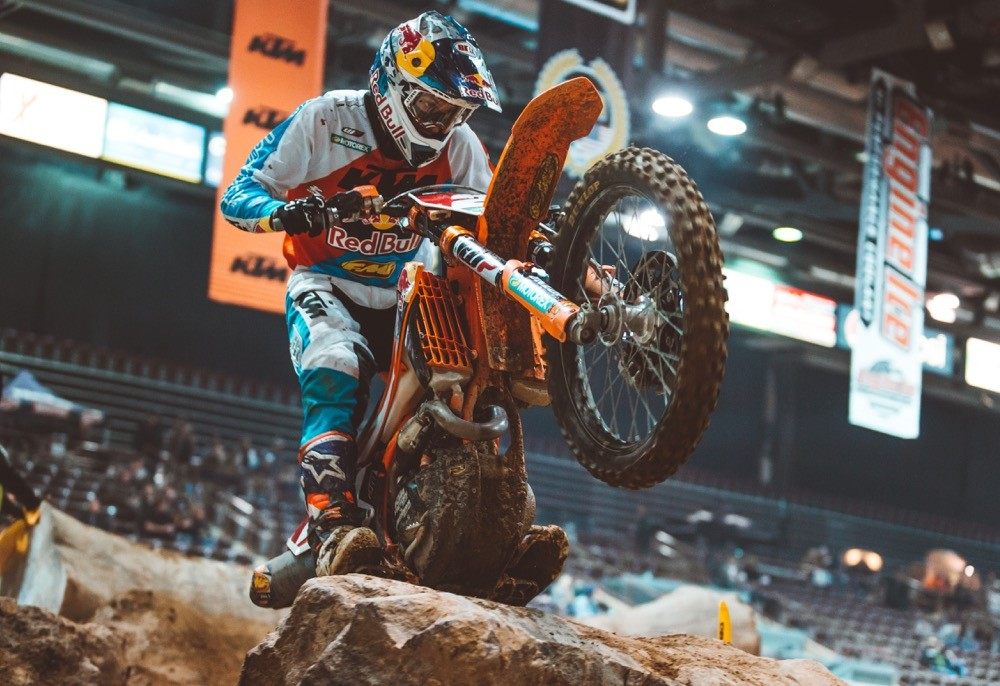 The No Joke lane proved to be a fan favorite in 2017 and for 2018, it will be used for all night show Super EnduroCross class races.