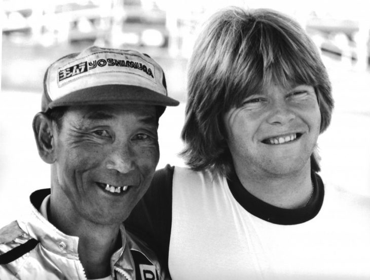 1979 Tuner Pops Yoshimura and early SBK Kaw and Suz ace Wes Cooley
