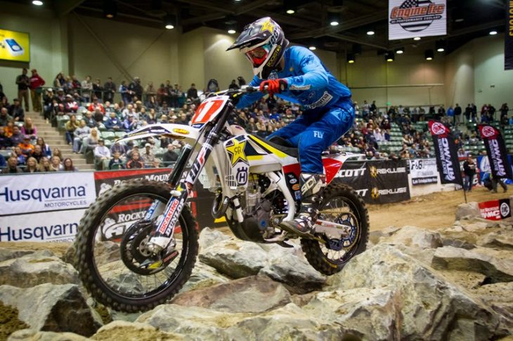 Colton Haaker uses ProTaper handlebars on his Rockstar Husqvarna Factory Racing machine. He will be aiming to regain the number one plate in 2018.