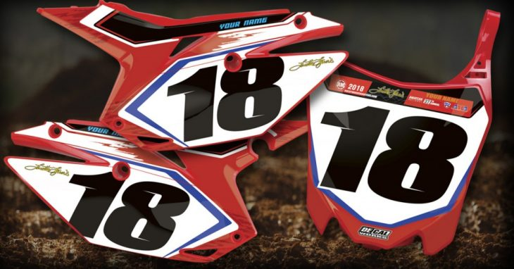 DeCal Works Pre-Printed Number-Plate Backgrounds