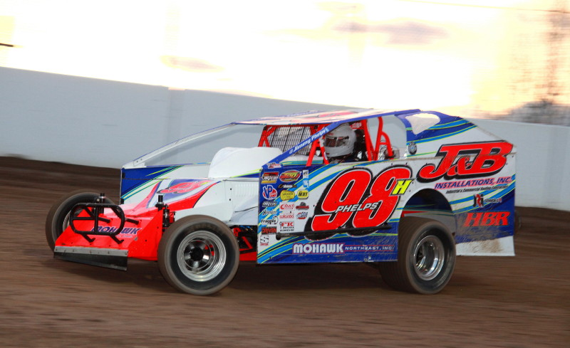 Mees and Weedsport's Phelps to trade vehicles at New York Short Track Kickoff Party Fri., July 6 – Phelps on Mees' FTR750, Mees in Phelps' Dirt Mod race car! Photo Credit: Jim Phelps