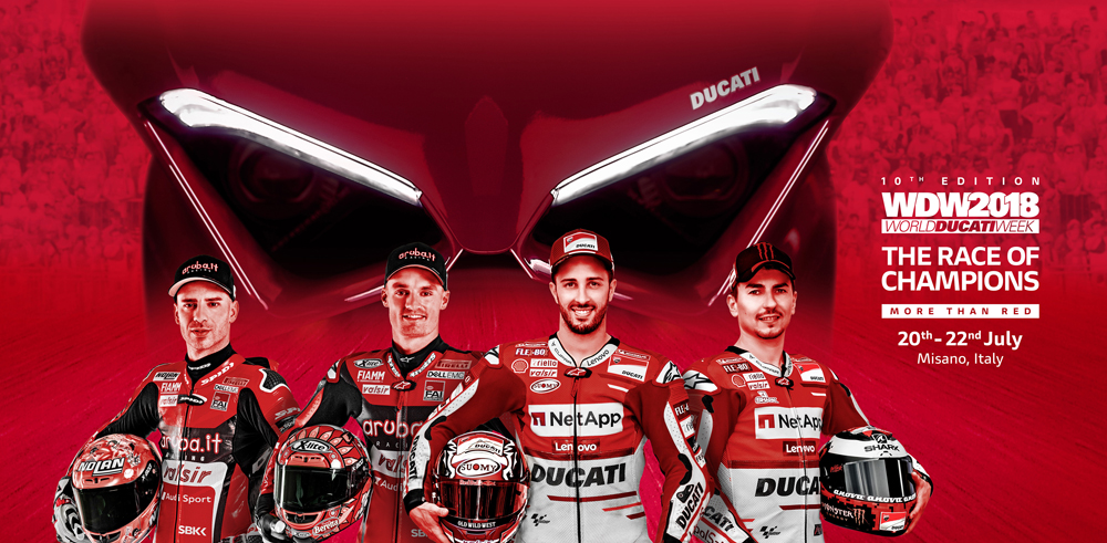 Ducati champs will be in attendance at WDW2018
