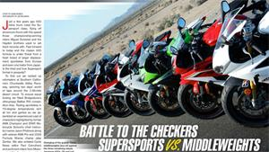 2013 Middleweight Sportbike COMPARISON TEST