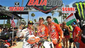 Rockstar/JCR Honda Team Tops Baja 500