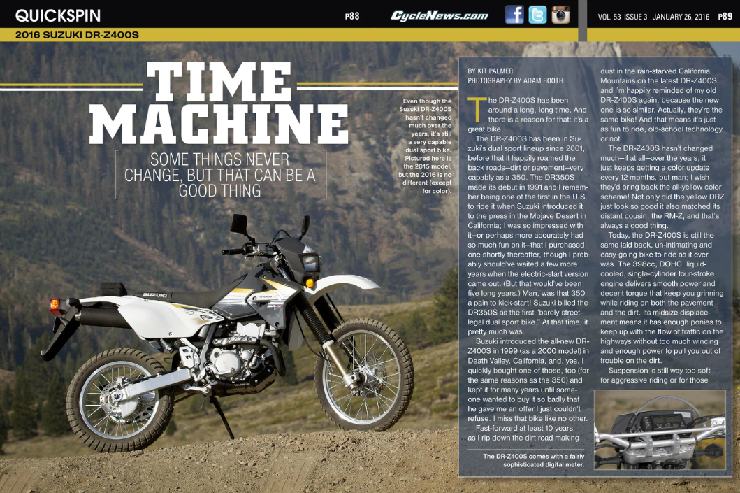 Suzuki DR-Z400S: QUICK SPIN - Cycle News