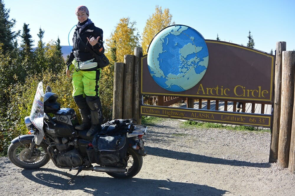 Danell Lynn at the Arctic Circle, Alaska