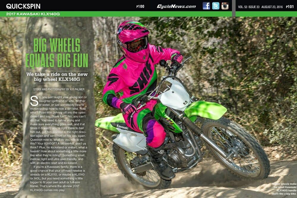 2017 Kawasaki KLX140G: QUICK SPIN - Cycle News