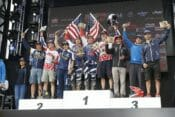 Kailub Russell, Taylor Robert, Nathan Watson on the podium of ISDE 2016