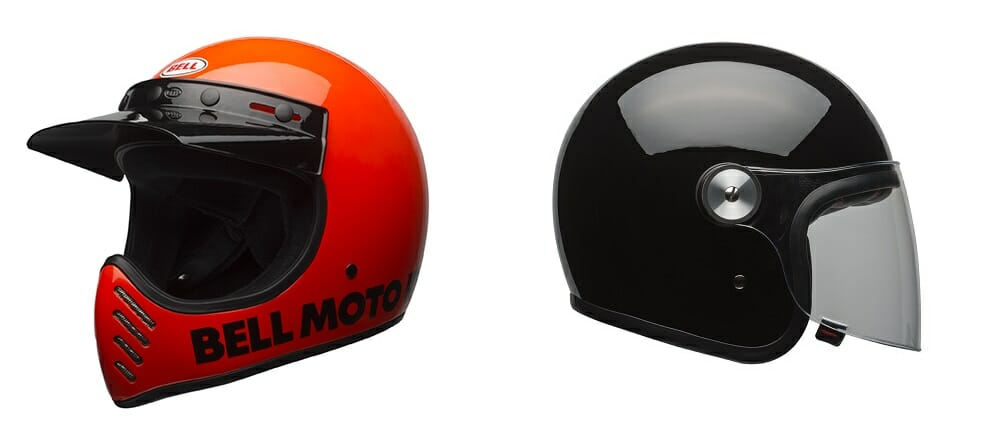 Bell Moto-3 and Riot helmets