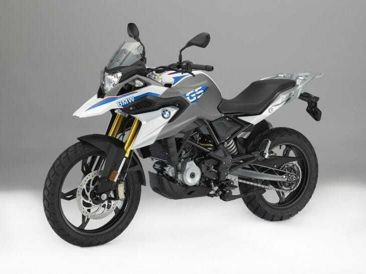 BMW G 310 GS in the studio.