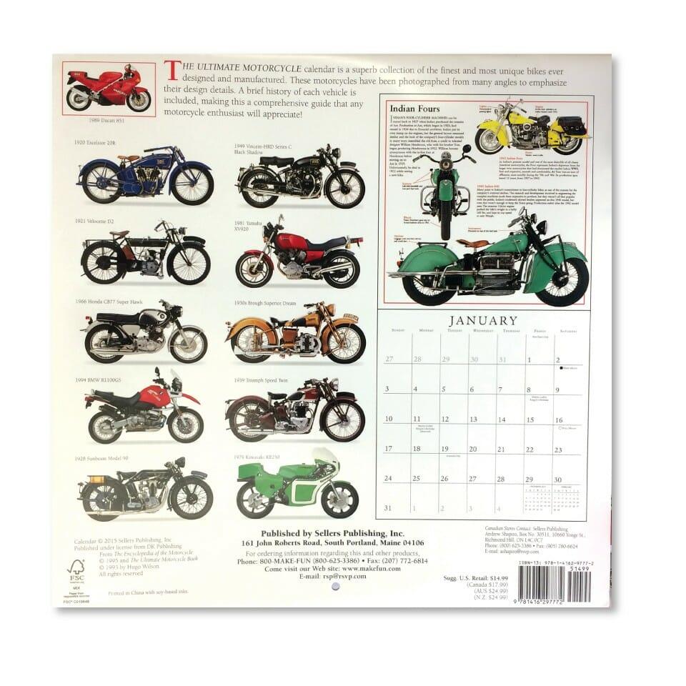2017 Ultimate Motorcycle Calendar