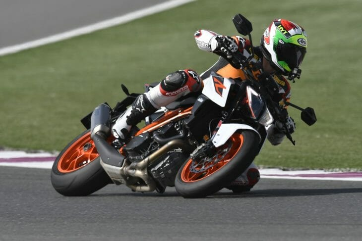 Rennie banks the Super Duke in one more time.