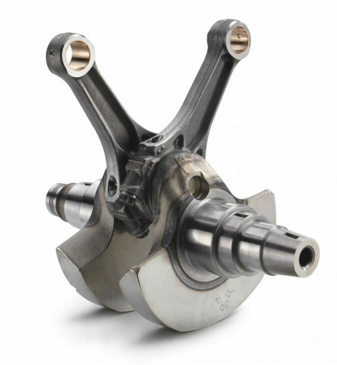 KTM increased the thickness of the crankshaft taper by 3mm on the generator side for enhanced stability.