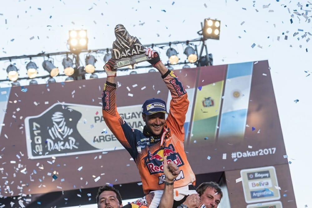 Winner Sam Sunderland made his first Dakar Rally finish a good one.