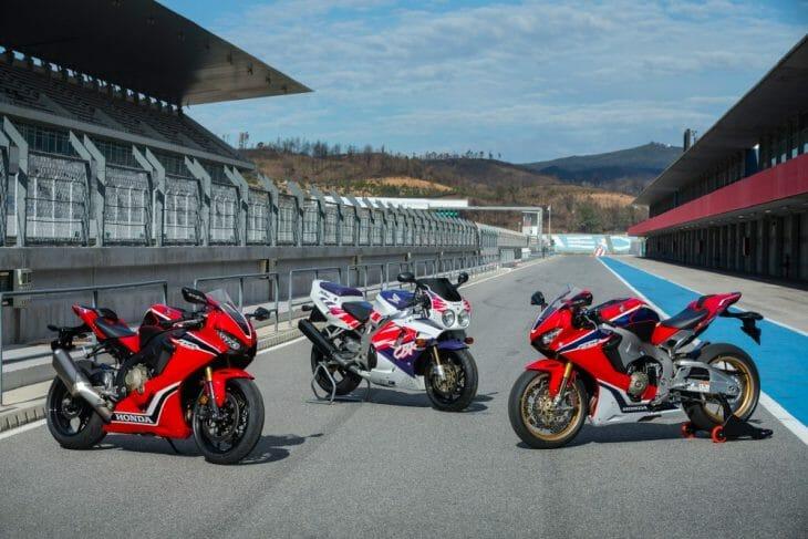 Old and new Honda CBR bikes