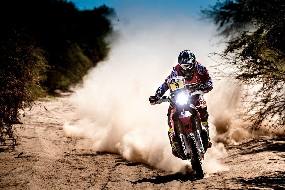 Monster Energy Honda's Ricky Brabec was on the attack, but suffered an unfortunate mechanical failure on stage 10. Brabec remains America's hope for a victory in Dakar.