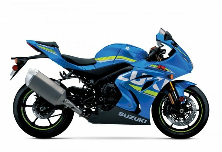 Looks the same as the standard GSX-R, but look at the fork.
