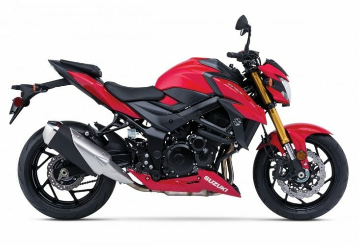 Not your usual Suzuki color scheme for the GSX-S750.