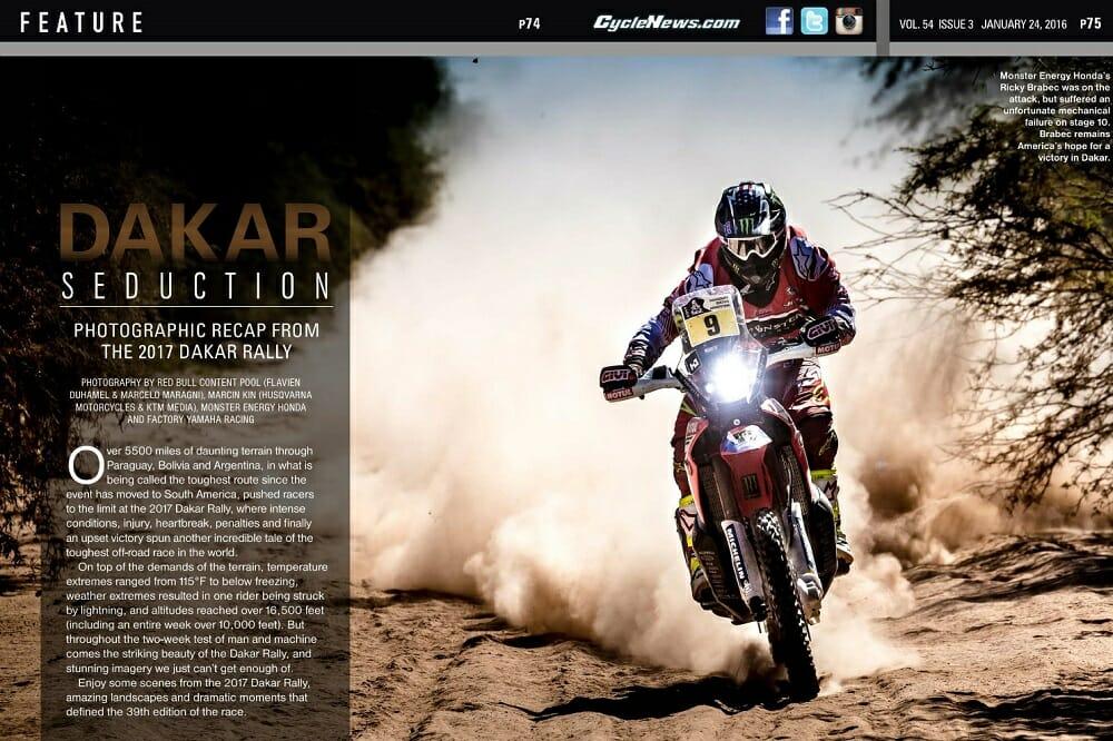 Photographic recap from the 2017 Dakar Rally