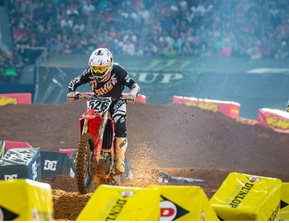 Colton Aeck Recovering from injuries he sustained at Monster Energy Supercross in Arlington