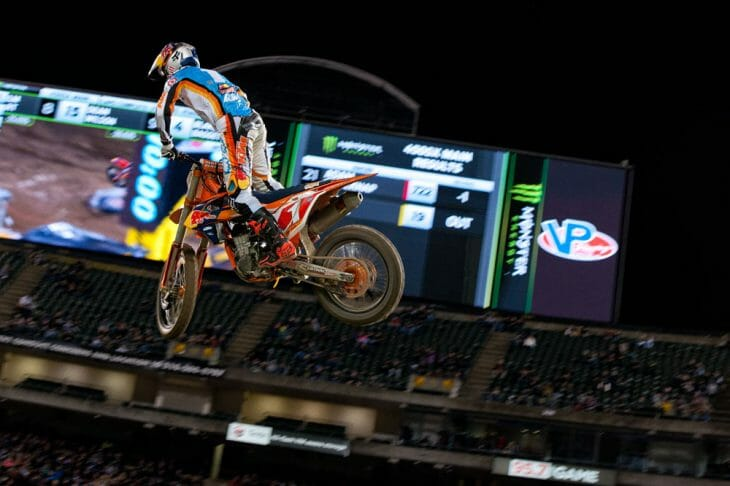 2017 Oakland 450cc Supercross Results