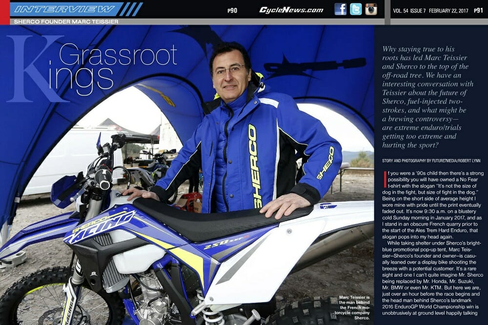 Sherco Founder Marc Teissier
