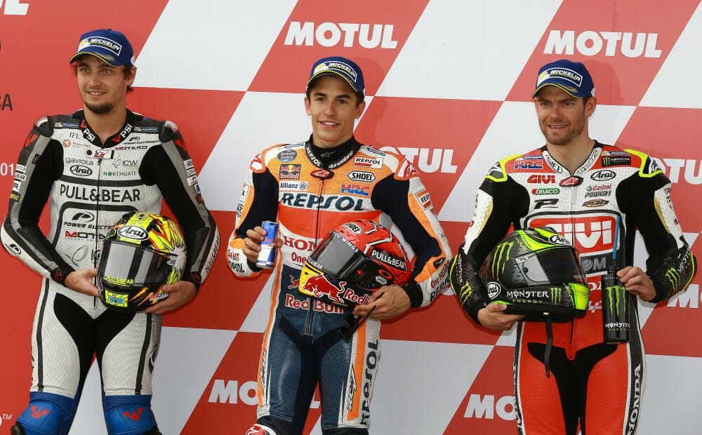 MotoGP qualifying was held in challenging conditions Saturday in Argentina.