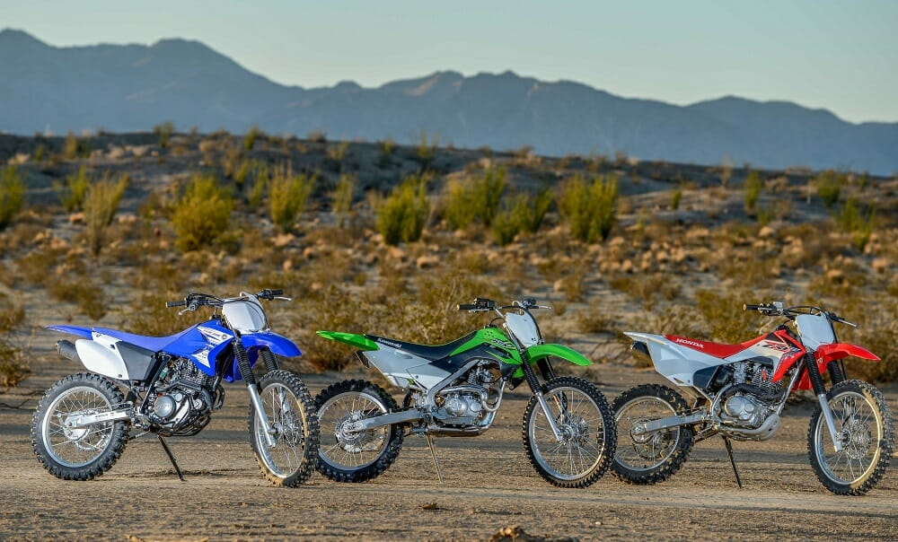 Kawasaki KLX140G vs  Honda CRF230F vs  Yamaha TTR230
