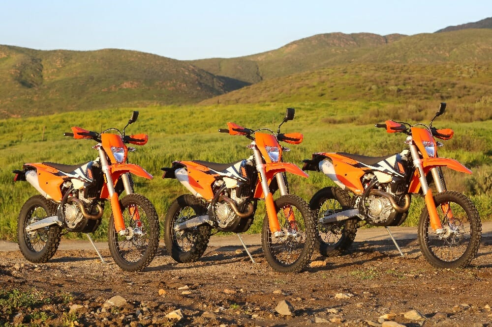 2017 KTM 250, 350 and 500 EXC-F: FIRST RIDE
