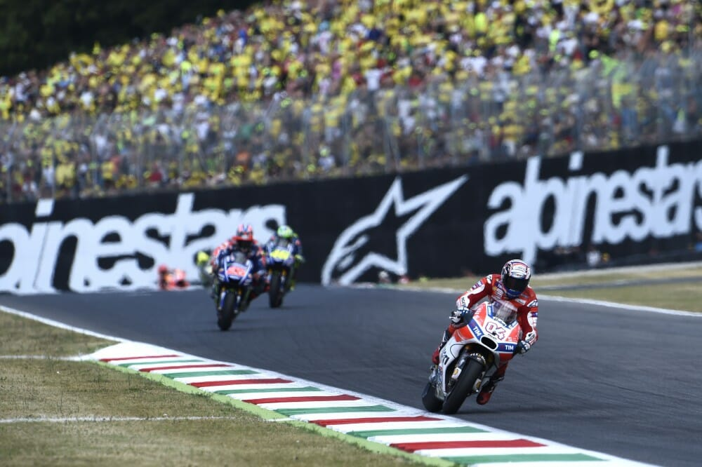 95a9134dc4 Andrea Dovizioso took the victory at his home Italian Grand Prix on the  factory Ducati.