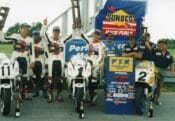 Team Suzuki Endurance's veteran team of Tray Batey and Michael Martin, both in their mid-30s at the time, beat Team Suzuki's B squad of young guns Steve Patterson and David Stanton, who were both in their early 20s.