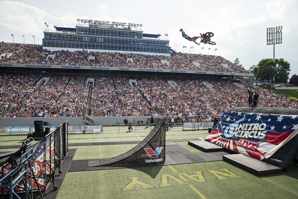 Travis Pastrana Leads Nitro Circus Crew at Spectacular Annapolis Homecoming Show