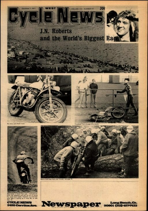 JN Roberts was the leading desert racer of the late 1960s and early '70s