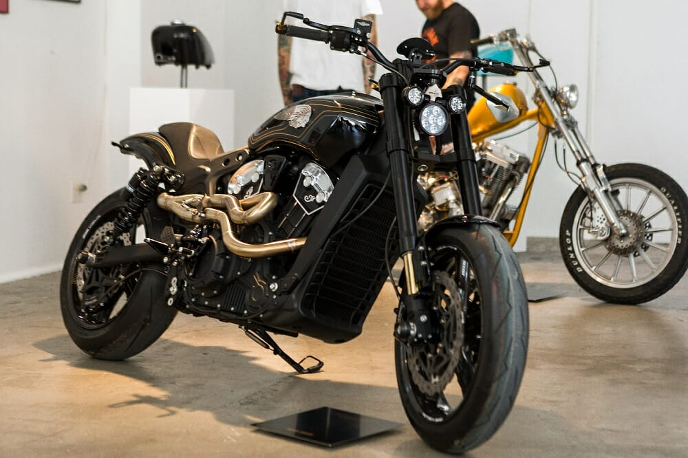 Custom Indian Scout Bobbers Unveiled at Brooklyn Invitational
