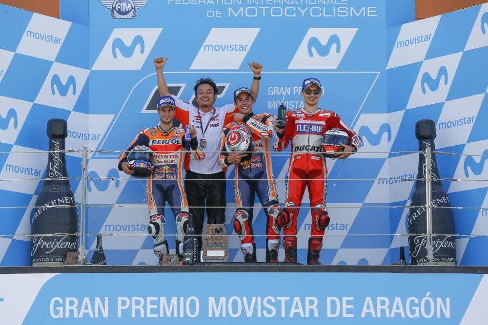 2017 Aragon MotoGP podium
