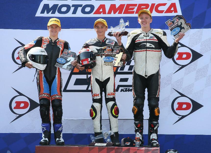 MotoAmerica Cory Ventura Alex Dumas and Benjamin Smith