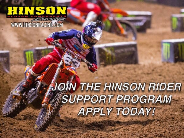 Hinson Clutch Components 2018 Rider Support Program