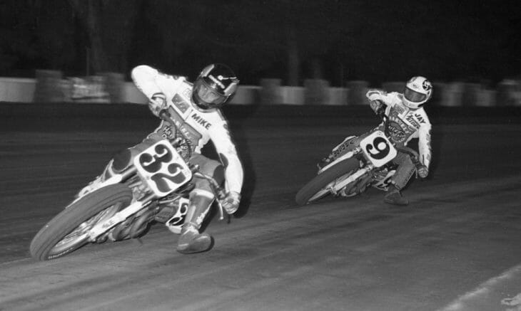 Mike Hale and Jay Springsteen do battle at the Sacramento Mile in 1994.