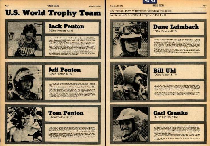 1973 ISDT Team USA