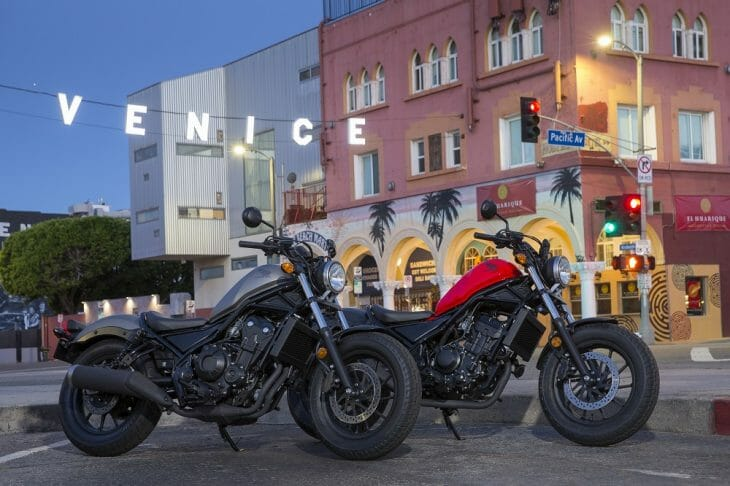 2017 Honda Rebel 300 and Honda Rebel 500 first test